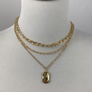 4/$20 A New Day Gold Chain 3 Strand Necklace